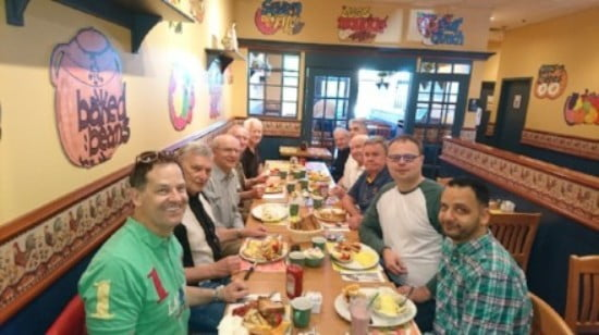 Mens breakfast every Saturday