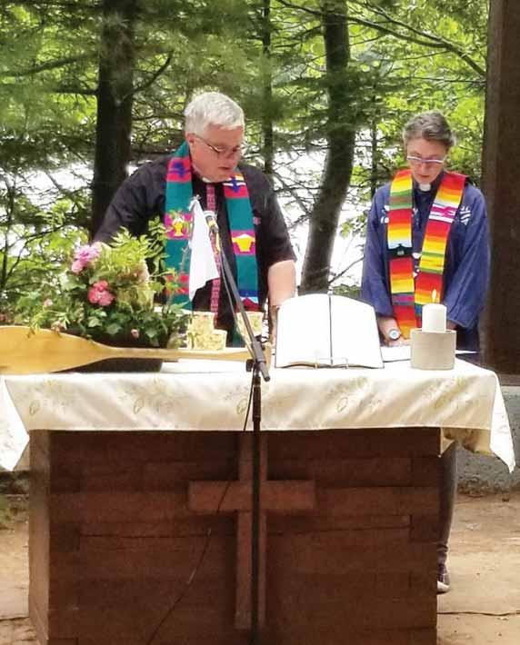 Pastor Kimber McNabb and Bishop Michael Pryse led the service.